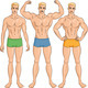 Vector Set of Young Athletic Guys in Shorts - GraphicRiver Item for Sale