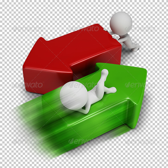 GraphicRiver 3D Small People Easy Success 5665952