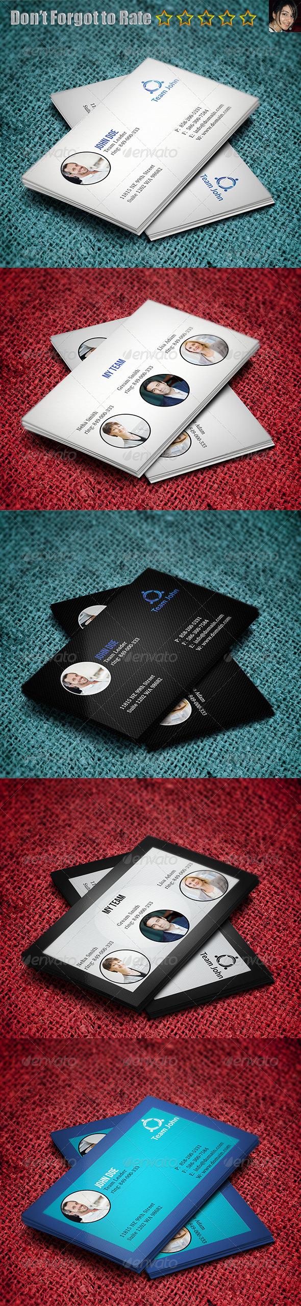 GraphicRiver Team Business Card 5666427