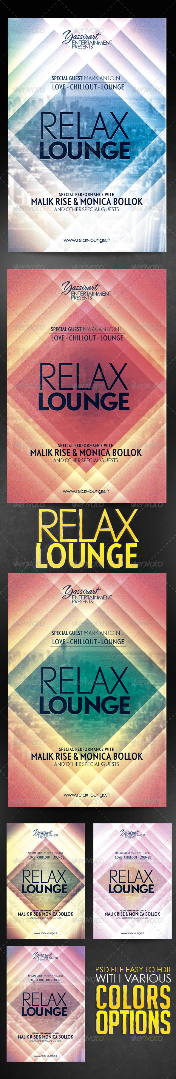 GraphicRiver Relax Lounge Flyer Template 5669020