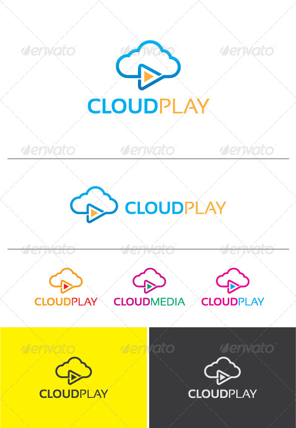GraphicRiver Cloud Play Logo 5670374