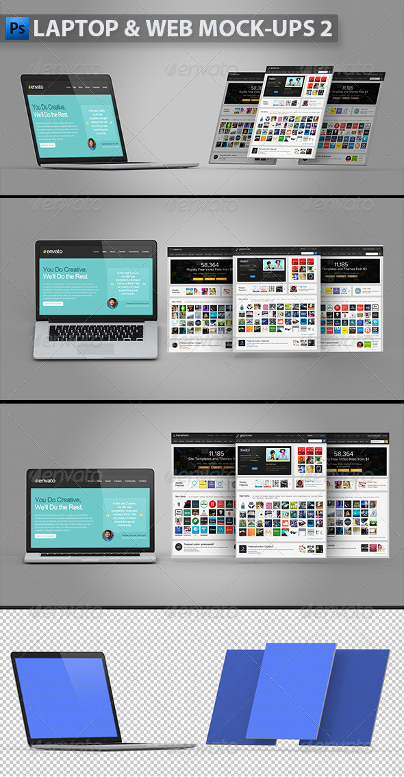 GraphicRiver Laptop and Web Mock-ups 2 5670865
