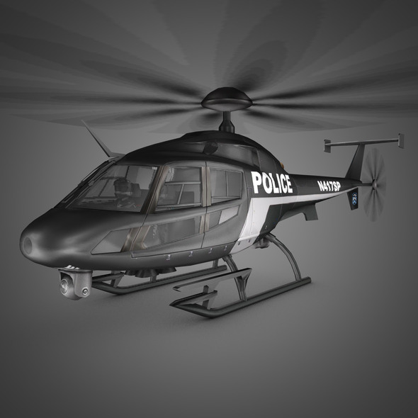 3DOcean Police Helicopter 5670934