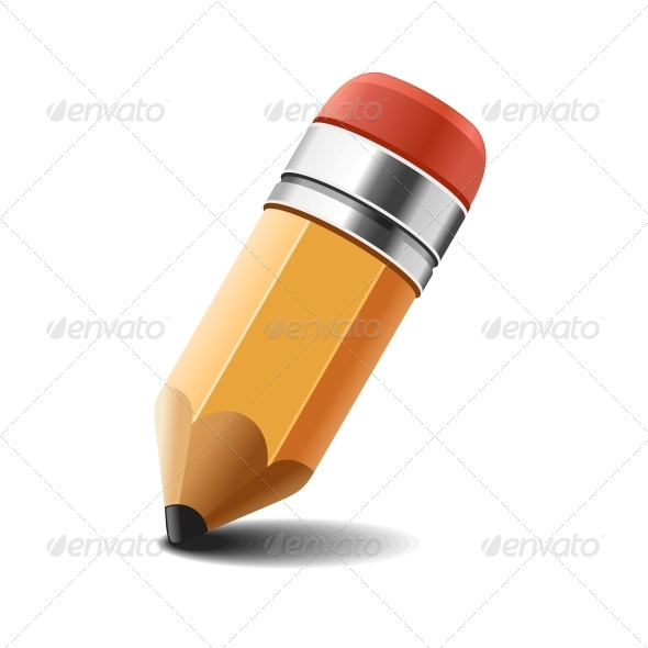 GraphicRiver Pencil on White Background Vector 5671481