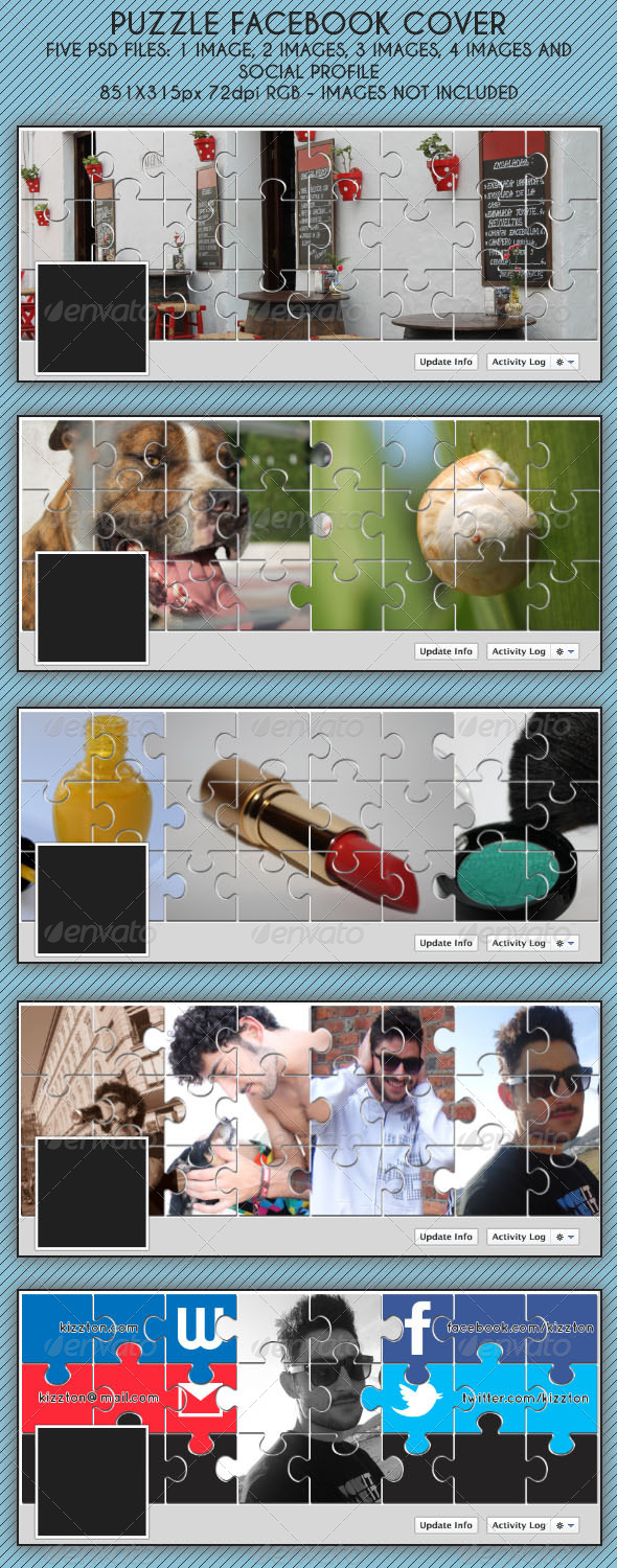 GraphicRiver Puzzle Fb Timeline Cover 5659580