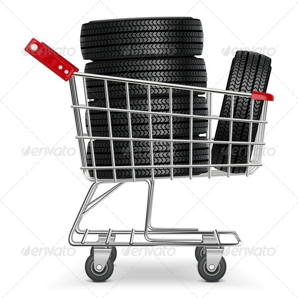 GraphicRiver Vector Trolley with Tires 5672604