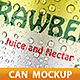 Can of Nectar Juice Mockup - GraphicRiver Item for Sale