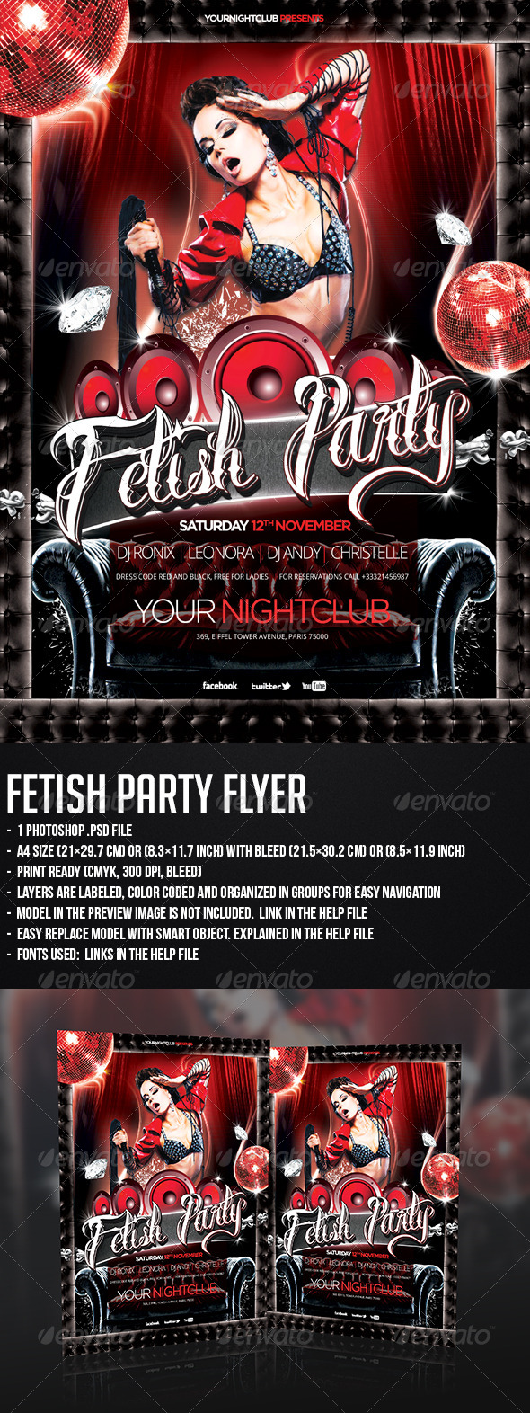 Fetish Party Flyer - Clubs & Parties Events