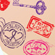 Collection of Love Mail Design Elements - Stamps  - GraphicRiver Item for Sale