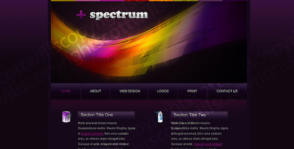 ThemeForest & Spectrum Portfolio Template 25343