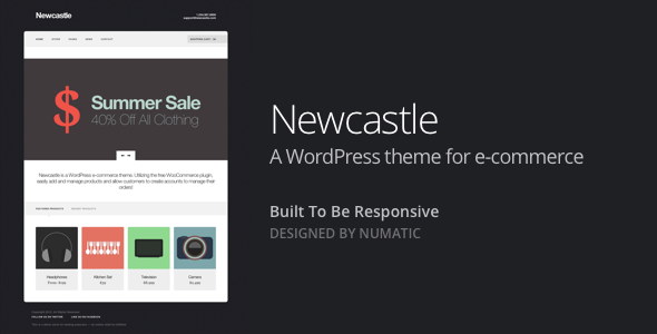 Newcastle - A WooCommerce Powered WordPress Theme - WooCommerce eCommerce