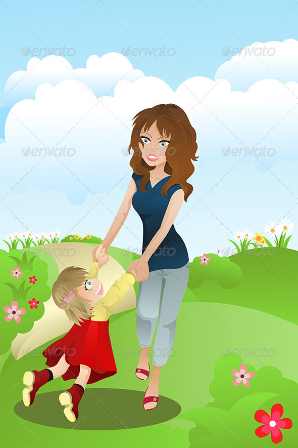 GraphicRiver Mother and Daughter 5675680