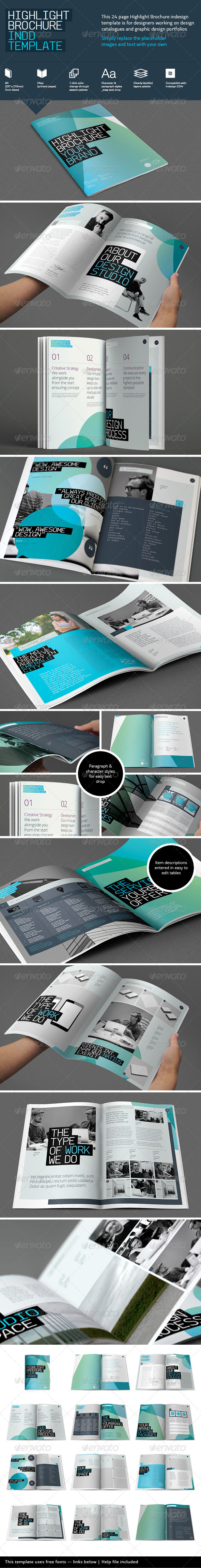 Highlight Brochure Template - Brochures Print Templates