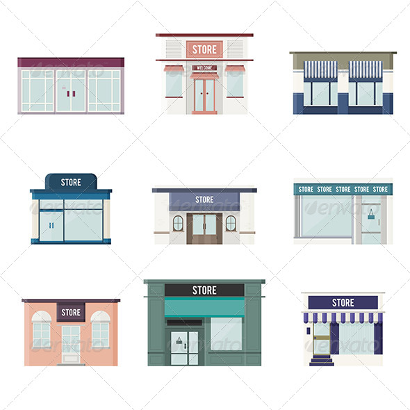 GraphicRiver Flat 3D Stores 5676211