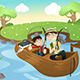 Father and Son Going Fishing - GraphicRiver Item for Sale