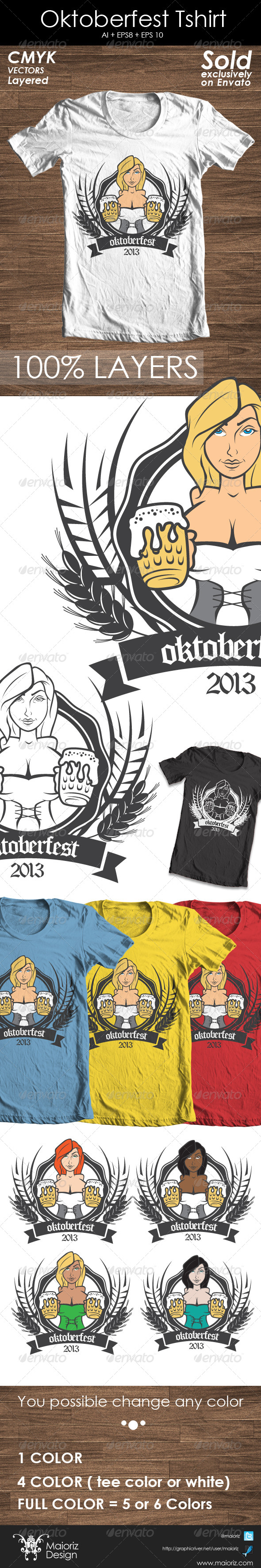 Oktoberfest Tshirt Promote - Events T-Shirts