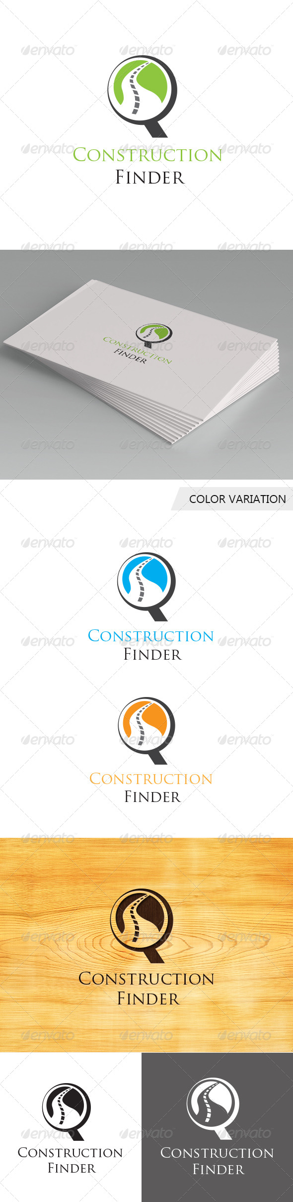GraphicRiver Construction Finder Logo Template 5676900