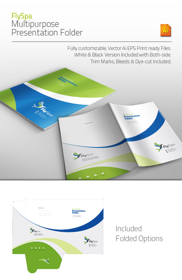 GraphicRiver FlySpa Multipurpose Presentation Folder 5677105