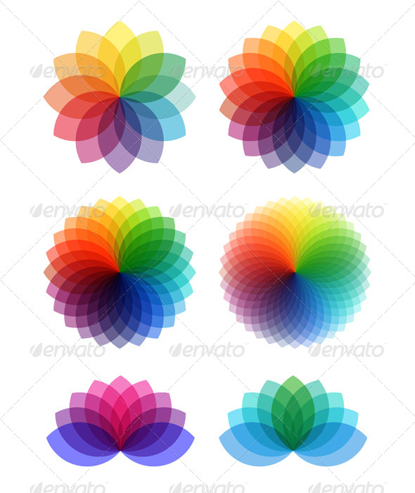 GraphicRiver Abstract Color Flowers 5677532