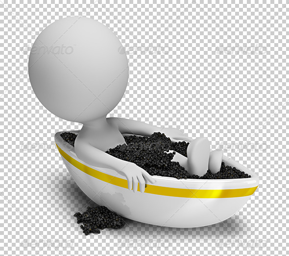 GraphicRiver 3D small people caviar bath 5677636