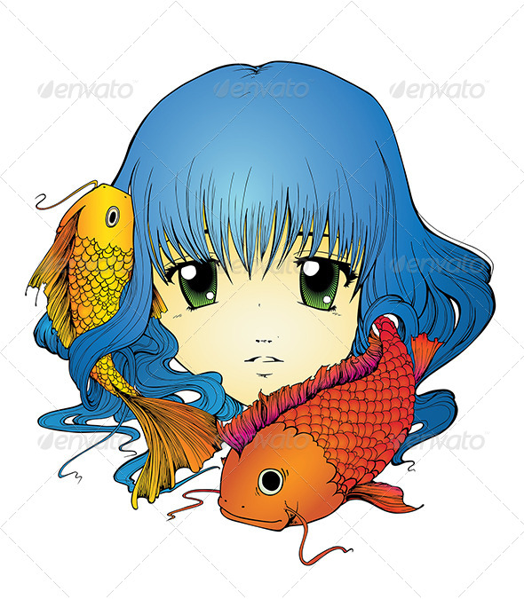GraphicRiver Koi Girl 5677851