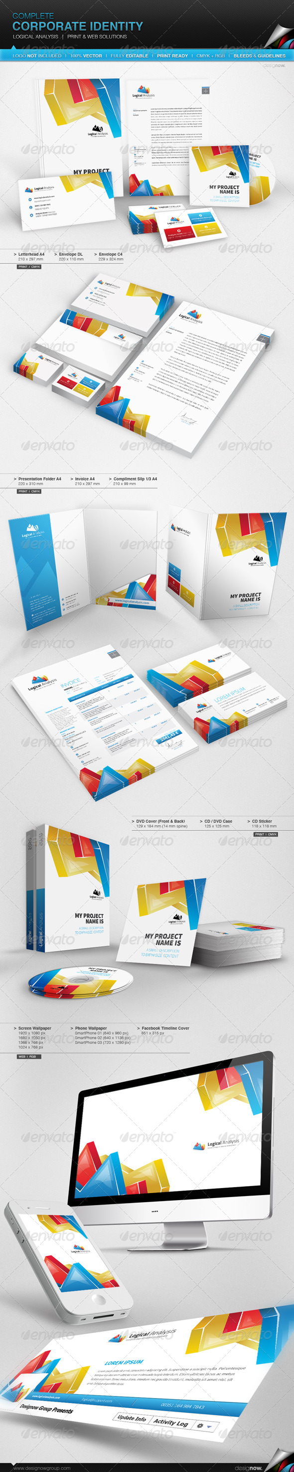 Corporate Identity - Logical Analysis - Print Templates