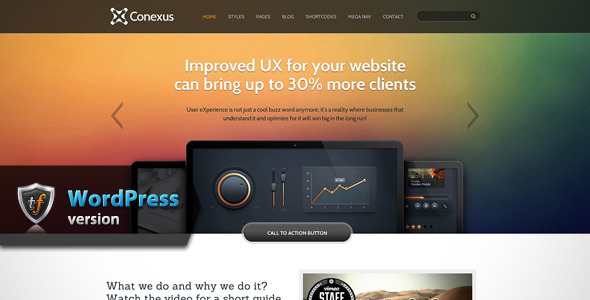 Conexus - Responsive WordPress Theme - Marketing Corporate