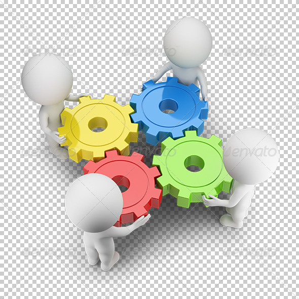 GraphicRiver 3D small people gears turned 5679756