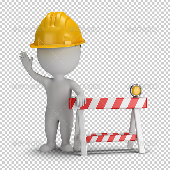 GraphicRiver 3D small people under construction 5680064