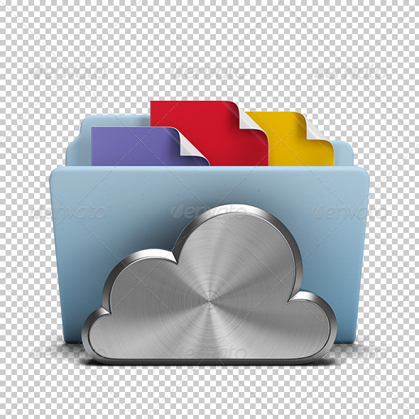 GraphicRiver Steel cloud and folder 5680384