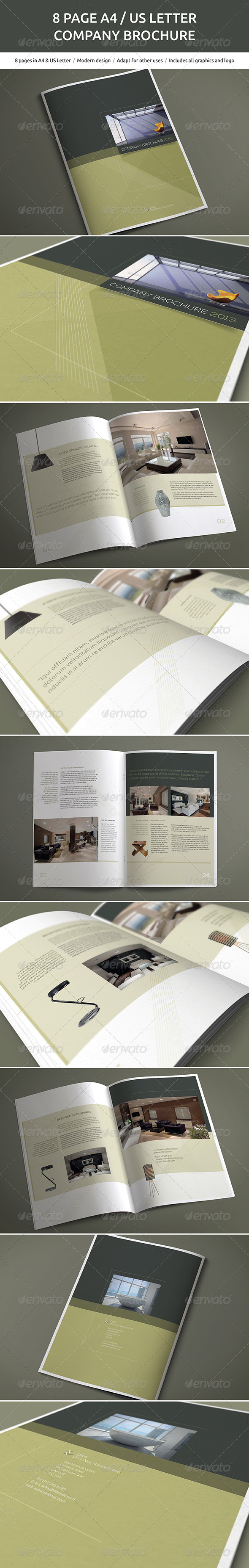 GraphicRiver 8 Page A4 and US Letter Company Brochure 5681588