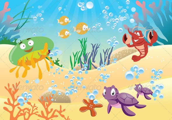GraphicRiver Sea Life 5681636