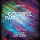 Colorful Party Sound Flyer - GraphicRiver Item for Sale