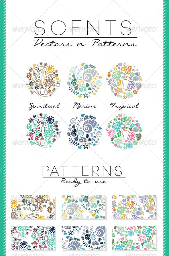 GraphicRiver Scents Vectors and Patterns 5669067