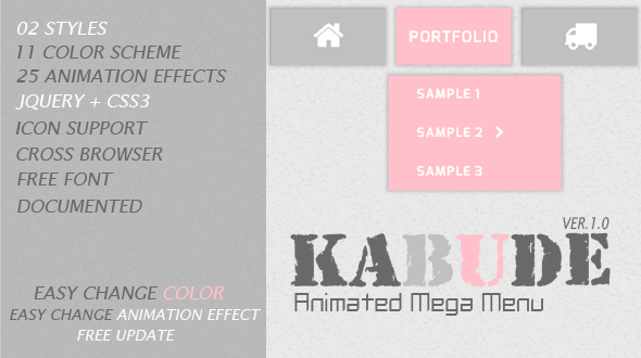 CodeCanyon Kabude jQuery Animated Mega Menu 5683001