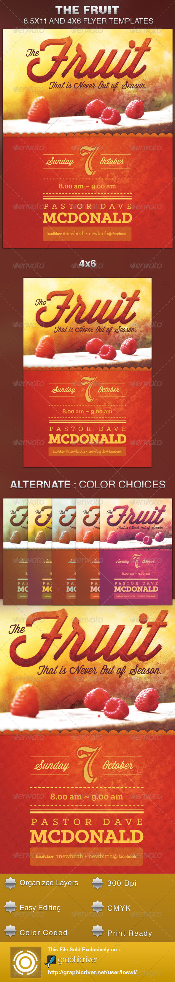 GraphicRiver Fruit that is Never out of Season Church Flyer 5683251