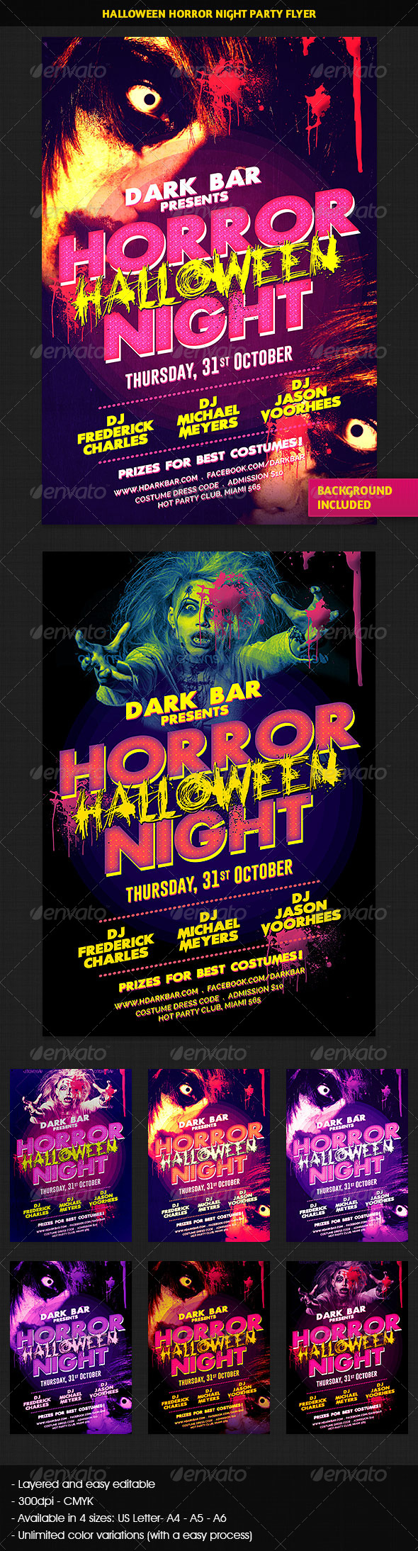 GraphicRiver Halloween Horror Night Party Flyer 5683334