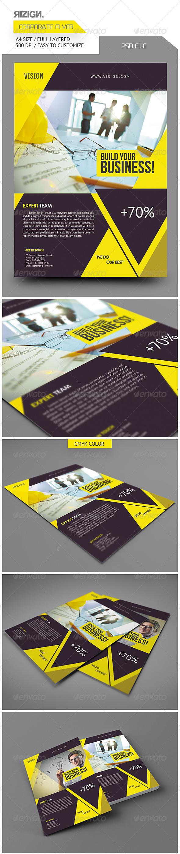 GraphicRiver Corporate Flyer 5684001