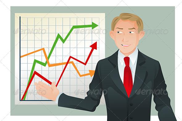 GraphicRiver Businessman Giving Presentation 5684693