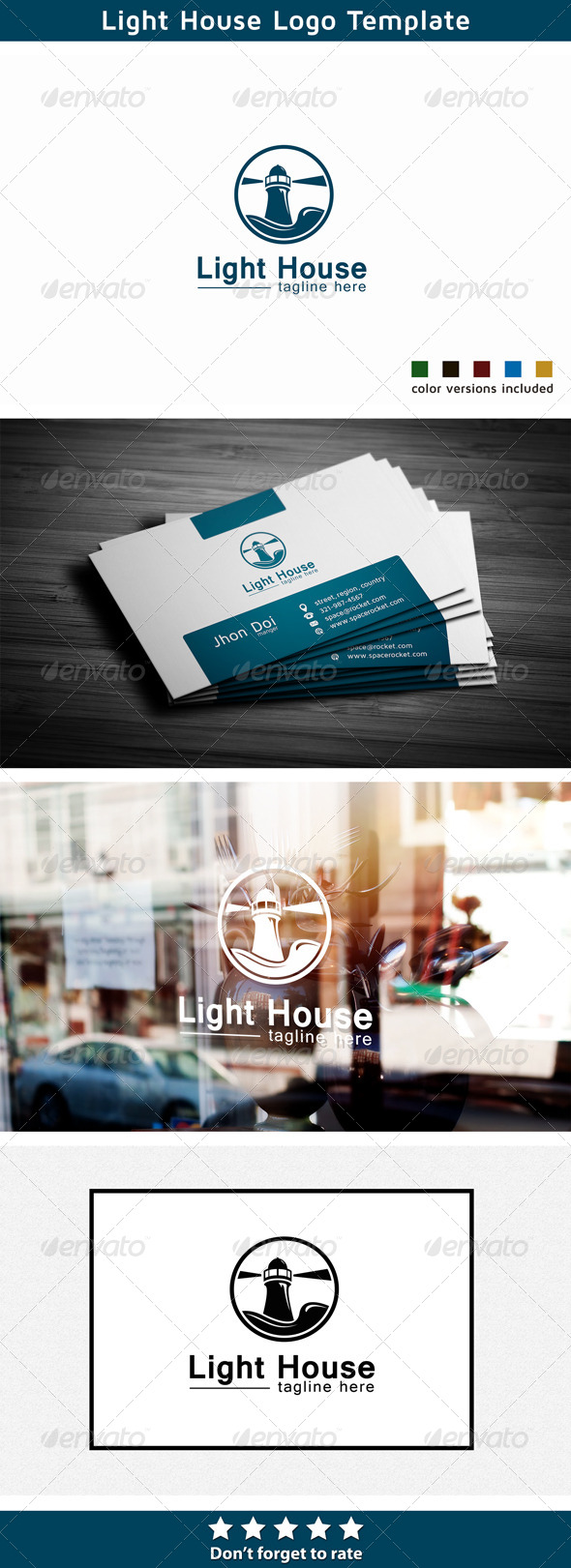 GraphicRiver Lighthouse Logo Church 5684867