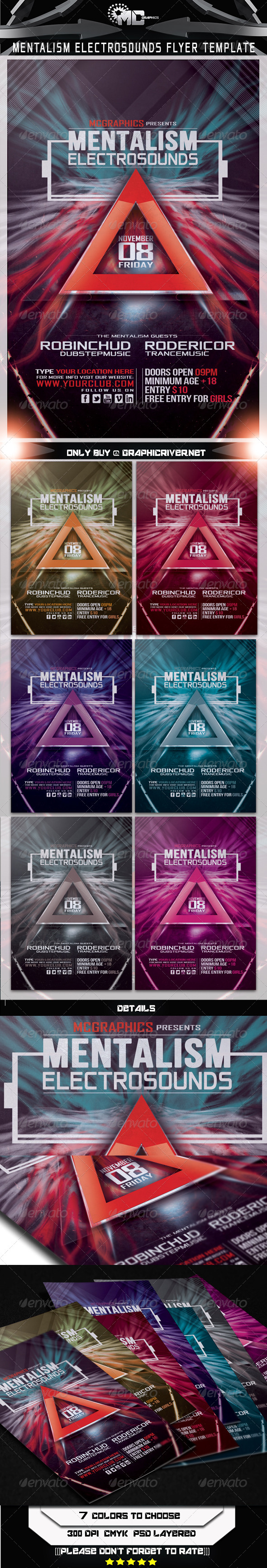 GraphicRiver Mentalism Electro Sounds Flyer Template 5684881
