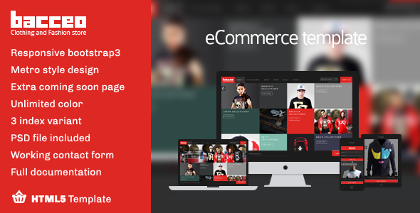 ThemeForest Bacceo metro style eCommerce template 5670922