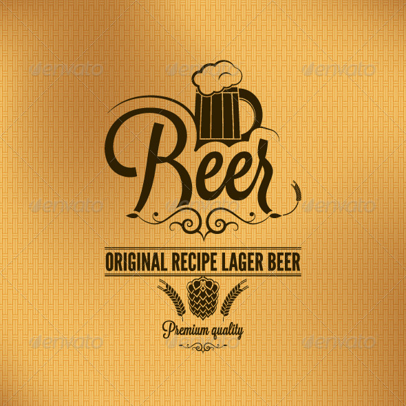 GraphicRiver Beer Lager Hop Vintage Background 5685360