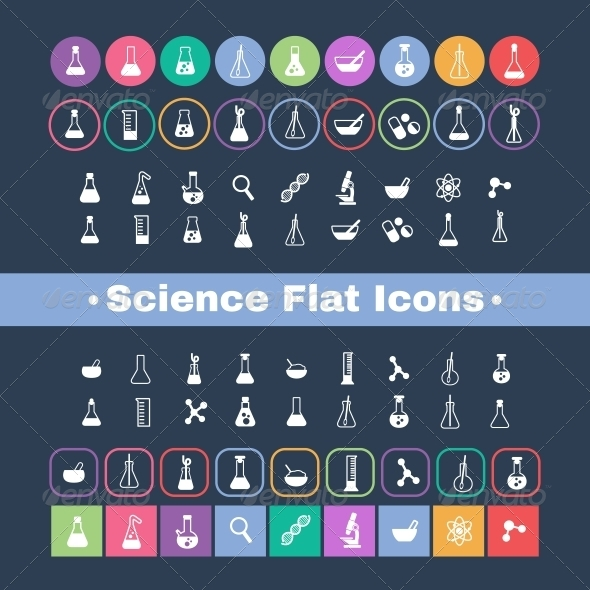 GraphicRiver Flat Science Icons 5685500