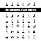 Flat Science Icons - GraphicRiver Item for Sale