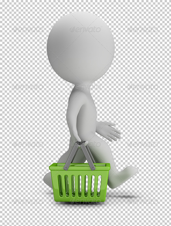 GraphicRiver 3D Small People Shopping Basket 5685577