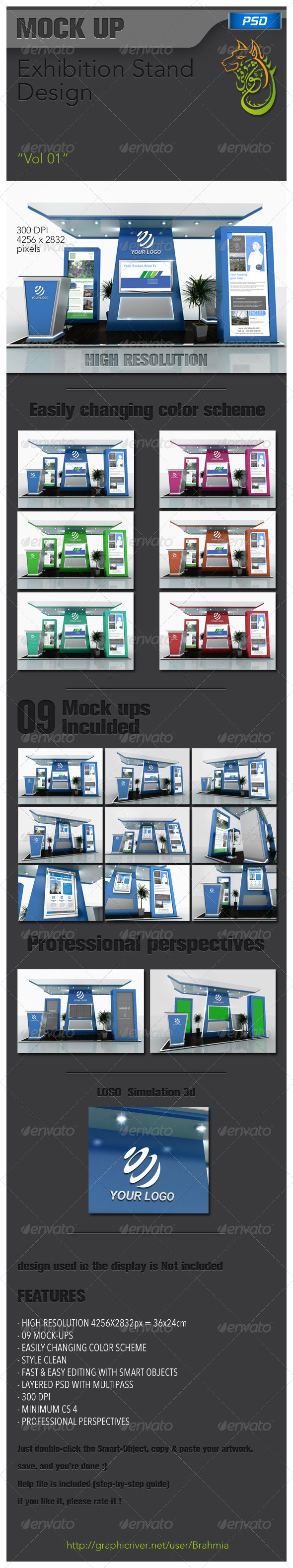 GraphicRiver Exhibition Stand Design Vol 01 5685592