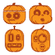 Pumpkins Monster Characters - GraphicRiver Item for Sale