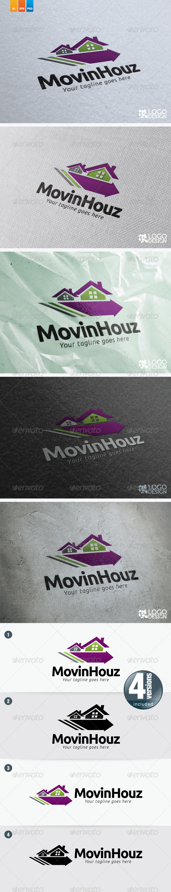 Movin Houz - Buildings Logo Templates