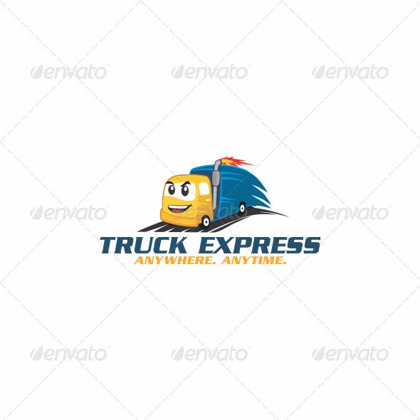GraphicRiver Truck Express Logo 5683009